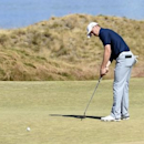 Jun 19, 2015; University Place, WA, USA; Jordan Spieth putts on the 17th green in the second round of the 2015 U.S. Open golf tournament at Chambers Bay. Michael Madrid-USA TODAY Sports