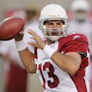 In this Aug. 13, 2005, file photo, Arizona Cardinals quarterback Kurt Warner looks for an open receiver in the first quarter against the Dallas Cowboys in Tempe, Ariz. Warner, Junior Seau and Orlando Pace are first year eligible nominees among the 15 Mod