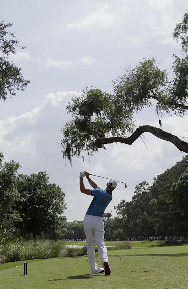 Martin Kaymer, of Germany, hits from the sixth tee during the third round of The Players championship golf tournament at TPC Sawgrass, Saturday, May 10, 2014, in Ponte Vedra Beach, Fla