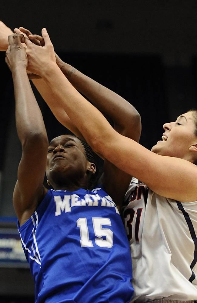 Top-ranked UConn women rout Memphis, 83-49