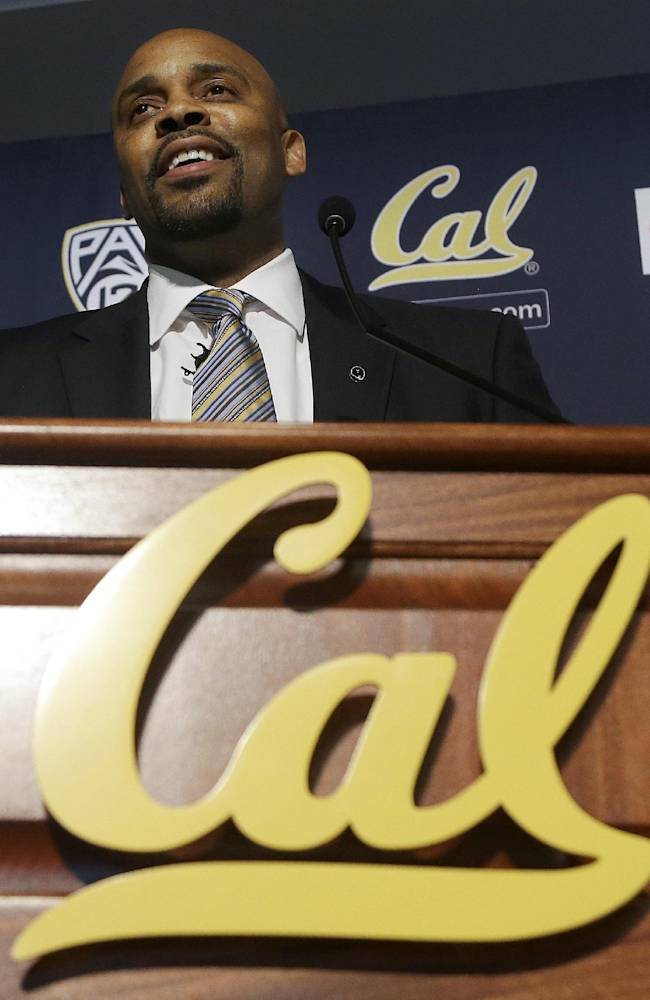 Cuonzo Martin speaks at a news conference as he is introduced as the new men's basketball coach at California in Berkeley, Calif., Tuesday, April 15, 2014. California hired Tennessee's Cuonzo Martin as its coach Tuesday, charging him with taking over another program after a successful run by his predecessor. Martin replaces Mike Montgomery, who retired last month after six seasons in Berkeley