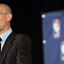NBA Commissioner Adam Silver addresses the media about the investigation involving Los Angeles Clippers owner Donald Sterling and accusations that he made racist remarks to a girlfriend on April 29, 2014 in New York City. Sterling, a billionaire, will be banned for life in the NBA. Sterling has a controversial history in racially charged Los Angles with previous accusations of racism tempered by philanthropic work in inner city neighborhoods. (Photo by Spencer Platt/Getty Images)