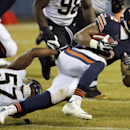 New Orleans Saints inside linebacker David Hawthorne (57) tackles Chicago Bears running back Matt Forte (22) during the first half of an NFL football game Monday, Dec. 15, 2014, in Chicago The Associated Press