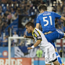 Montreal Impact's Maxim Tissot, right, and Columbus Crew's Hector Jimenez battle for the ball during second half MLS soccer action in Montreal, Saturday, Aug. 30, 2014 The Associated Press