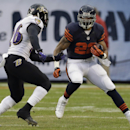 Chicago Bears running back Matt Forte (22) rushes against Baltimore Ravens safety Matt Elam (26) during the first half of an NFL football game, Sunday, Nov. 17, 2013, in Chicago The Associated Press