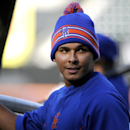 New York Mets shortstop Ruben Tejada attends batting practice before a baseball game against the Washington Nationals at Citi Field on Wedneday, April 2, 2014, in New York The Associated Press