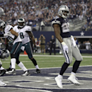 Dallas Cowboys running back DeMarco Murray (29) celebrates after scoring a touchdown against the Philadelphia Eagles during the first half of an NFL football game, Thursday, Nov. 27, 2014, in Arlington, Texas The Associated Press