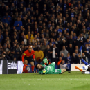 10ThingstoSeeSports - Chelsea's Demba Ba scores his side's 2nd goal during the Champions League second leg quarterfinal soccer match between Chelsea and Paris Saint-Germain at Stamford Bridge Stadium in London, Tuesday, April 8, 2014. (AP Photo/Kirsty Wig