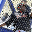 San Francisco Giants' Pablo Sandoval takes batting practice before the Giants' baseball game against the Los Angeles Dodgers on Sunday, April 6, 2014, in Los Angeles The Associated Press