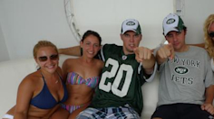 Jets fans get into hot water in Miami