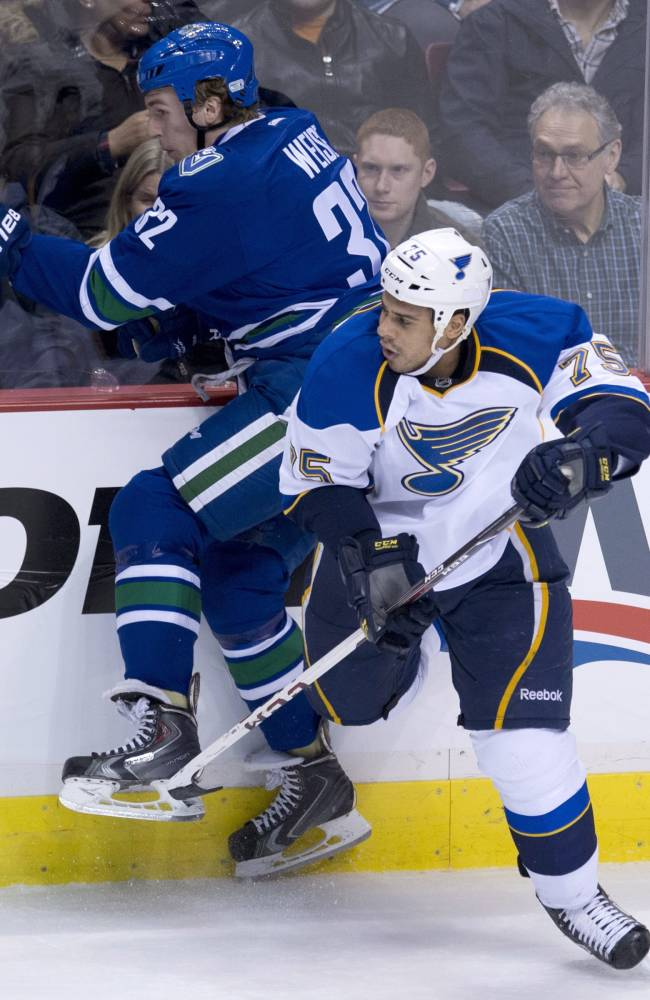 Blues sign F Ryan Reaves to 4-year extension