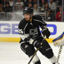 Los Angeles Kings defenseman Slava Voynov, of Russia, skates during the third period of an NHL hockey game against the St. Louis Blues, Thursday, Oct. 16, 2014, in Los Angeles. (AP Photo/Mark J. Terrill)