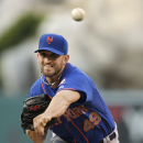 New York Mets starting pitcher Jonathon Niese throws against the Los Angeles Angels during the first inning of a baseball game on Saturday, April 12, 2014, in Anaheim, Calif The Associated Press