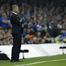 Schalke's head coach Jens Keller watches the Champions League group G soccer match between Chelsea and Schalke 04 at Stamford Bridge stadium in London, Wednesday, Sept. 17, 2014