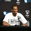 Jason Collins #98 of the Brooklyn Nets speaks at a press conference during a game at the Barclays Center on March 3, 2014 in the Brooklyn borough of New York City. (Photo by Nathaniel S. Butler/NBAE via Getty Images)