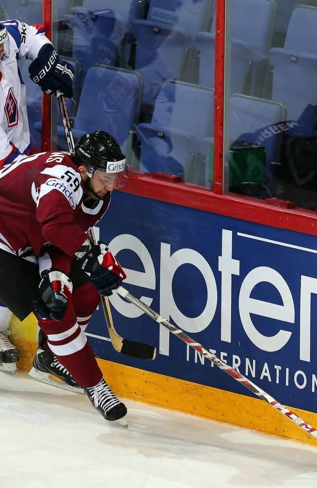 Slovakia v Latvia - 2013 IIHF Ice Hockey World Championship