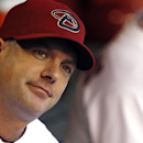 FILE - In this May 21, 2010, file photo, Arizona Diamondbacks manager A.J. Hinch listens to players prior to the first inning of an interleague baseball game against the Toronto Blue Jays in Phoenix. The Houston Astros hired Hinch as their new manager, Monday, Sept. 29, 2014, person with knowledge of the decision told The Associated Press. (AP Photo/Ross D. Franklin, File)
