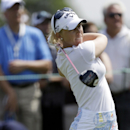 Brooke Henderson tees off on the first hole during the third round of the U.S. Women's Open golf tournament at the Sebonack Golf Club Saturday, June 29, 2013, in Southampton, N.Y. (AP Photo/Frank Franklin II)
