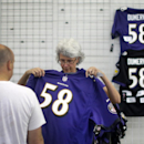 Ravens fans trade in their Rice jerseys at stadium The Associated Press
