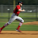 In this photo shot with a slow exposure, St. Louis Cardinals' Peter Bourjos takes part in a base running drill during spring training baseball practice Friday, Feb. 21, 2014, in Jupiter, Fla The Associated Press