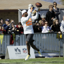 Dallas Cowboys' DeMarco Murray catches a pass during a practice session at Luke Air Force Base for the NFL Football Pro Bowl Thursday, Jan. 22, 2015, in Glendale, Ariz The Associated Press