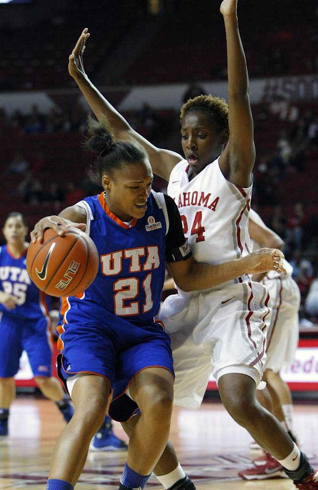 No. 10 Oklahoma women rout Texas-Arlington