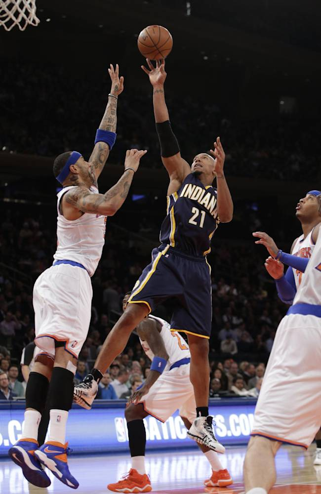 George, Pacers pull out OT victory over Knicks