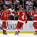 Franzen leads Red Wings over Devils, 7-4 The Associated Press