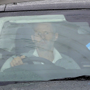 Manchester United's Ryan Giggs arrives at the clubs' Training Complex, Carrington, Manchester, England Tuesday April 22, 2014. Manchester United says manager David Moyes has left the Premier League club after less than a year in charge, amid heavy specula