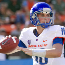 IN this Nov. 10, 2012 photo, Boise State quarterback Joe Southwick (16) looks for an open receiver in the second quarter of an NCAA college football game in Honolulu. (AP Photo/Eugene Tanner)