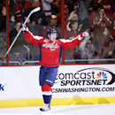 Washington Capitals center Nicklas Backstrom (19), from Sweden, celebrates his second goal in the second period of an NHL hockey game against the Tampa Bay Lightning, Saturday, Dec. 13, 2014, in Washington The Associated Press