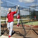 St. Louis Cardinals' Matt Holliday steps out of a batting cage during spring training baseball practice Tuesday, Feb. 18, 2014, in Jupiter, Fla The Associated Press