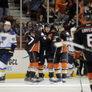 Ducks blank Blues 3-0 for 5th straight win The Associated Press
