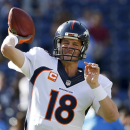 Manning limited at practice with thigh injury The Associated Press
