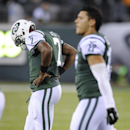 New York Jets quarterback Geno Smith (7) walks off the field after an incomplete pass into the end zone against the Chicago Bears during the fourth quarter of an NFL football game, Monday, Sept. 22, 2014, in East Rutherford, N.J The Associated Press