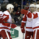 Glendening scores winner in Red Wings' 3-2 win over Sharks The Associated Press