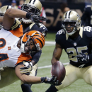 Saints without Cooks, Bush during stretch run The Associated Press