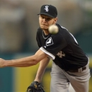 Chicago White Sox pitcher Chris Sale, delivers against the Los Angeles Angels in the first inning in a baseball game, Friday, May 17, 2013 in Anaheim, Calif. (AP Photo/Mark J. Terrill)