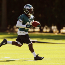 Philadelphia Eagles running back Darren Sproles runs a drill during NFL football practice at the team's training facility, Tuesday, Sept. 23, 2014, in Philadelphia. The Associated Press
