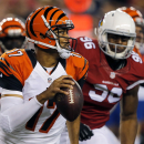 Cincinnati Bengals quarterback Jason Campbell (17) looks to pass against the Arizona Cardinals during the second half of an NFL preseason football game, Sunday, Aug. 24, 2014, in Glendale, Ariz The Associated Press