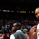 ATLANTA, GA - APRIL 19: Al Horford #15 of the Atlanta Hawks after the win against the Brooklyn Nets during Game One of the Eastern Conference Quarterfinals of the NBA Playoffs on April 19, 2015 at Philips Arena in Atlanta, Georgia. (Photo by Scott Cunningham/NBAE via Getty Images)