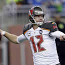 FILE - In this Dec. 7, 2014, file photo, Tampa Bay Buccaneers quarterback Josh McCown throws during an NFL football game against the Detroit Lions in Detroit. The Browns have agreed to terms with veteran quarterback McCown on a contract. McCown, who went 1-10 as Tampa Bay's starter last season, reached agreement with Cleveland on Friday, Feb. 27, 2015. The 35-year-old had also been in contract talks with the Buffalo Bills. (AP Photo/Duane Burleson, File)