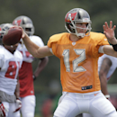 Tampa Bay Buccaneers quarterback Josh McCown throws a pass during an NFL football training camp Monday, July 28, 2014, in Tampa, Fla The Associated Press