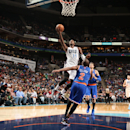 CHARLOTTE, NC - JANUARY 14: Michael Kidd-Gilchrist #14 of the Charlotte Bobcats shoots against Raymond Felton #2 of the New York Knicks during the game at the Time Warner Cable Arena on January 14, 2014 in Charlotte, North Carolina. (Photo by Brock Williams-Smith/NBAE via Getty Images)