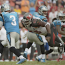 in this Sept. 7, 2014, file photo, Tampa Bay Buccaneers defensive tackle Gerald McCoy (93) sacks Carolina Panthers quarterback Derek Anderson (3) during the third quarter of an NFL football game in Tampa, Fla. McCoy has signed a seven-year extension with