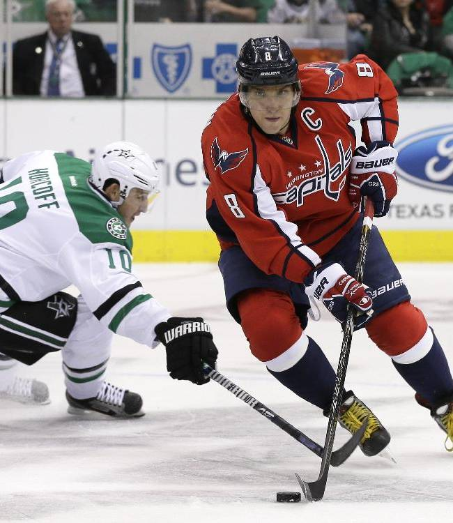 Chiasson's goal lifts Stars over Capitals 2-1