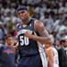 OKLAHOMA CITY, OK - MAY 15: Zach Randolph #50 of the Memphis Grizzlies celebrates in Game Five of the Western Conference Semifinals against the Oklahoma City Thunder during the 2013 NBA Playoffs on May 15, 2013 at the Chesapeake Energy Arena in Oklahoma City, Oklahoma. (Photo by Joe Murphy/NBAE via Getty Images)