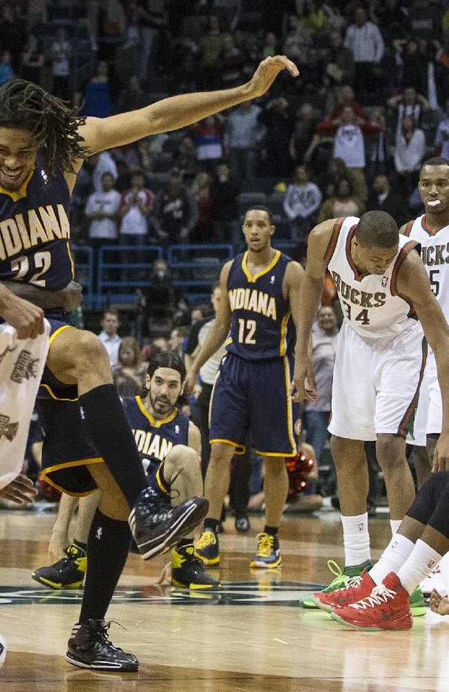 Pacers rest starters, edge Bucks 104-102