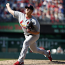 St. Louis Cardinals relief pitcher Seth Maness throws during the ninth inning of a baseball game against the Washington Nationals at Nationals Park Sunday, April 20, 2014, in Washington. The Nationals won 3-2 The Associated Press