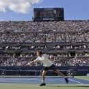FILE - In this Sept. 10, 2012, file photo, Britain's Andy Murray, foregound, returns a shot to Serbia's Novak Djokovic during the championship match at the 2012 US Open tennis tournament in New York. The U.S. Open tennis tournament will leave CBS after nearly a half-century and move all TV coverage to cable starting in 2015 under an 11-year contract with ESPN, the U.S. Tennis Association and ESPN, announced Thursday, May 16, 2013. (AP Photo/Charles Krupa, File)